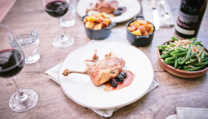 Christmas Duck with Sour Cherry Sauce